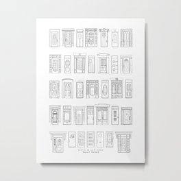 Portes de la 1re ave, Rosemont, Montréal Metal Print