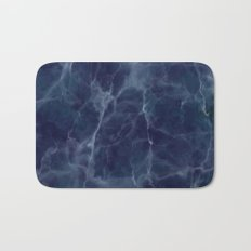 Deep Ocean Blue Marble Bath Mat
