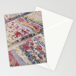 Sewing Liberty Print Patchwork Stationery Cards