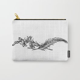 Flowers and feather Carry-All Pouch