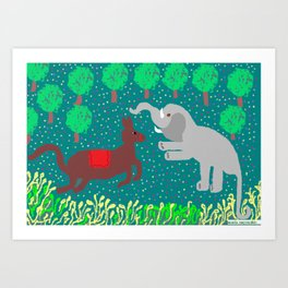 WHITE ELEPHANT Art Print