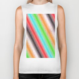 Colour lines and strokes Biker Tank