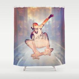 The Skateboarder Shower Curtain