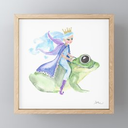 A Fairy Princess and the Frog Framed Mini Art Print