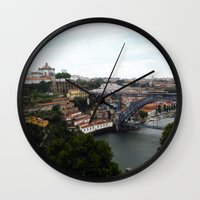 portugal Wall Clocks featuring Porto - Portugal by Louise