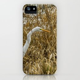 Great Egret Among the Rushes iPhone Case