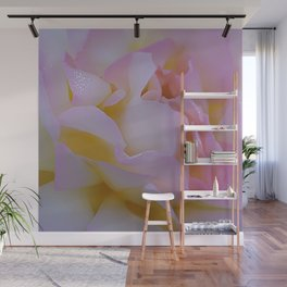 Pink rose petals kissed by raindrops Wall Mural