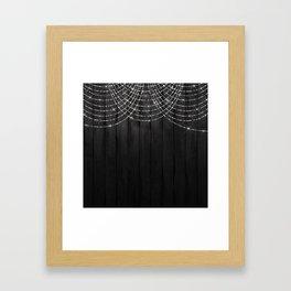 Fairy Lights on Wood 03 Framed Art Print