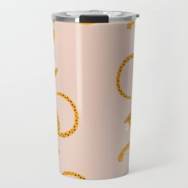 Leopard Race - pink Travel Mug