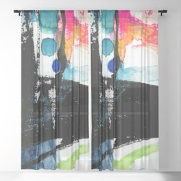 Ecstasy Dream No. 8 by Kathy Morton Stanion Sheer Curtain