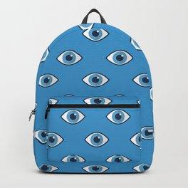 Spooky eyes (blue pattern) Backpack