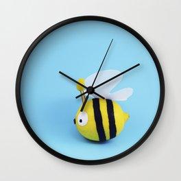 Bee - Lemon Wall Clock