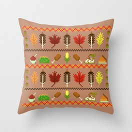 Ugly Thanksgiving Sweater Throw Pillow