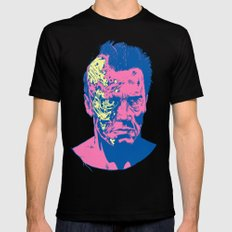 Terminator (neon) Black LARGE Mens Fitted Tee