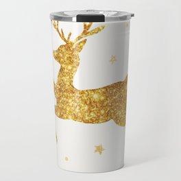 Golden Deer Travel Mug
