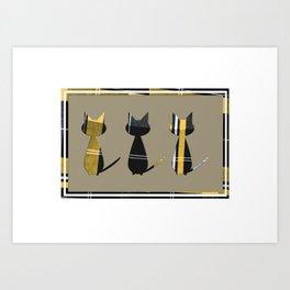 Cats in Tartan - very Scottish Art Print