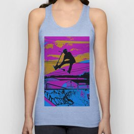 Lets Fly!  - Stunt Scooter Unisex Tank Top