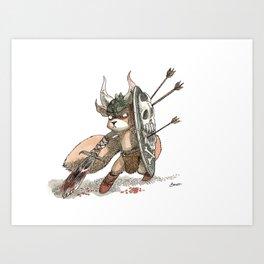 Écureuil Barbare Art Print