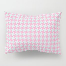 Pink & Green Pixelated Houndstooth Pattern Pillow Sham