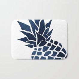 Pineapple, Big Blue, Denim Navy Bath Mat