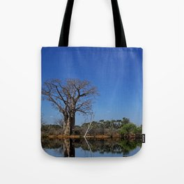 African landscape with baobabs Tote Bag