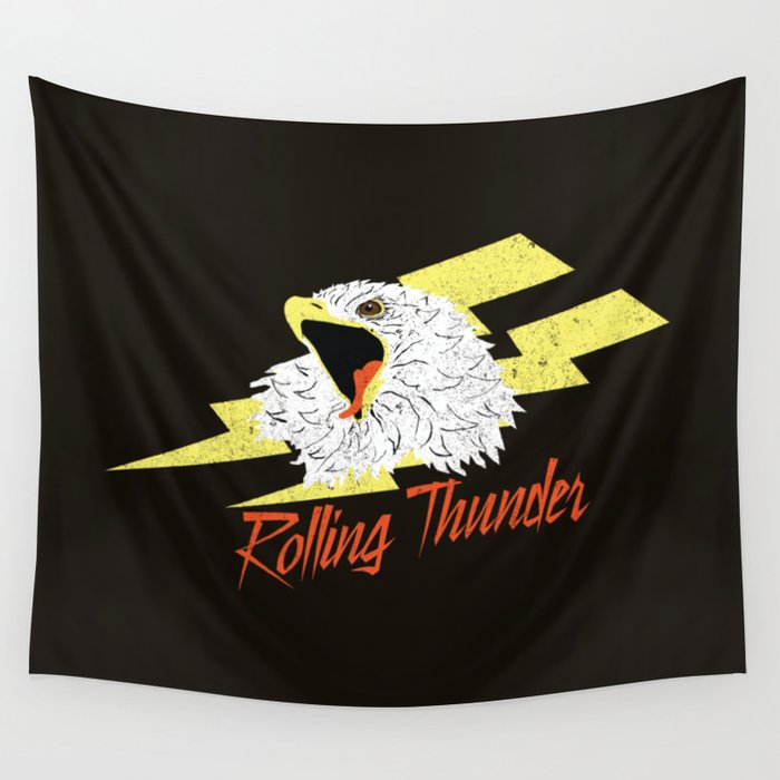 Screaming Eagle (Rolling Thunder) Wall Tapestry