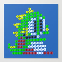 Bubble Bobble bubbles Canvas Print