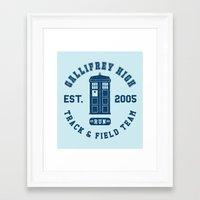 superwholock Framed Art Prints featuring Run! by Miffmelon