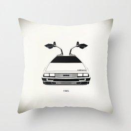 Delorean DMC 12 / Time machine / 1985 Throw Pillow