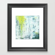 Flowing Green Framed Art Print