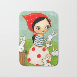 Bunches of Bunnies cute painting by Tascha Bath Mat
