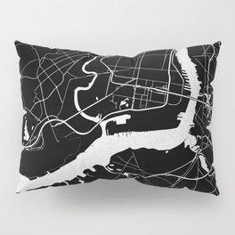 Philadelphia - Black and Silver Pillow Sham