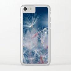 Snow Dandelion Clear iPhone Case