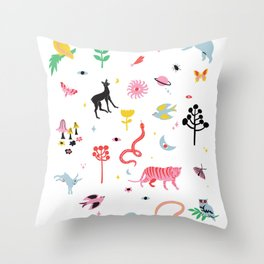 everything is connected Throw Pillow