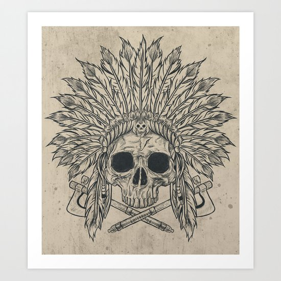 The Dead Chief Art Print