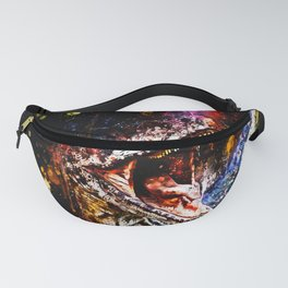 velociraptor dinosaur close up wsstd Fanny Pack
