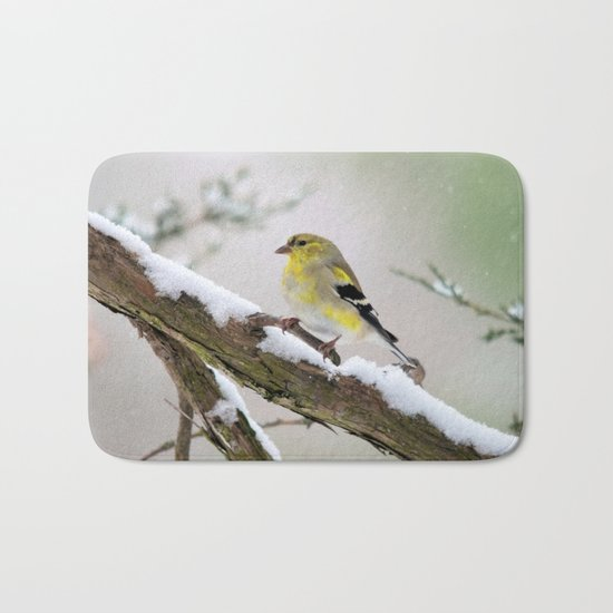 Balancing Act (American Goldfinch) Bath Mat