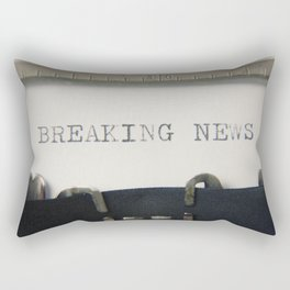 Typewriter macro breaking news Rectangular Pillow