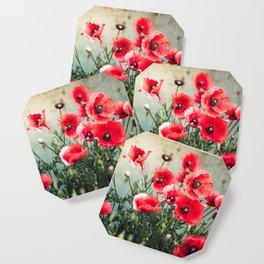 Fresh Poppies In Bloom Coaster