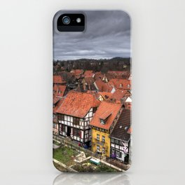 Quedlinburg Rooftops iPhone Case