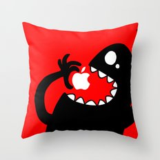 apple eater Throw Pillow