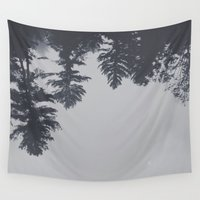 fog Wall Tapestries featuring fog by kendall bixler