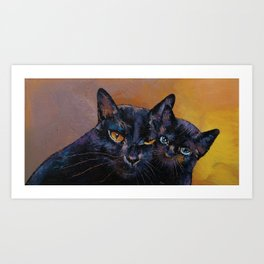 Bombay Cat with Kitten Art Print