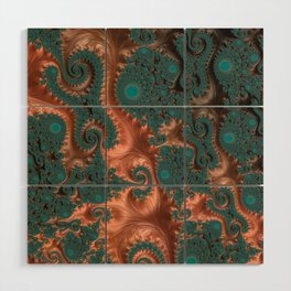 Copper Leaves - Fractal Art Wood Wall Art