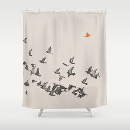 Bird and Birds Shower Curtain