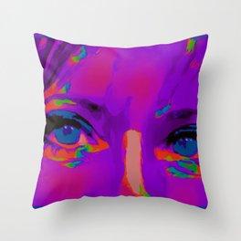 Debbie Purple Throw Pillow