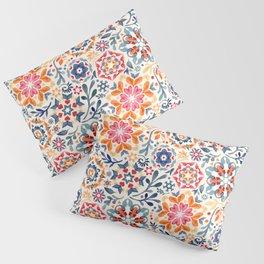 Watercolor Kaleidoscope Floral - desaturated Pillow Sham
