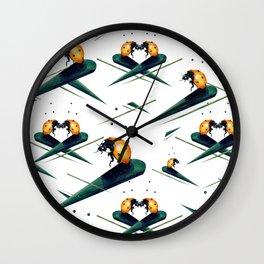 Bugs in Love (Pattern) Wall Clock