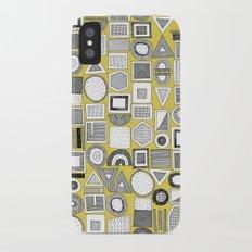 frisson memphis bw yellow iPhone X Slim Case