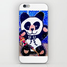On A Starry Night Holiday Illustration By James Thomas Ryan iPhone Skin